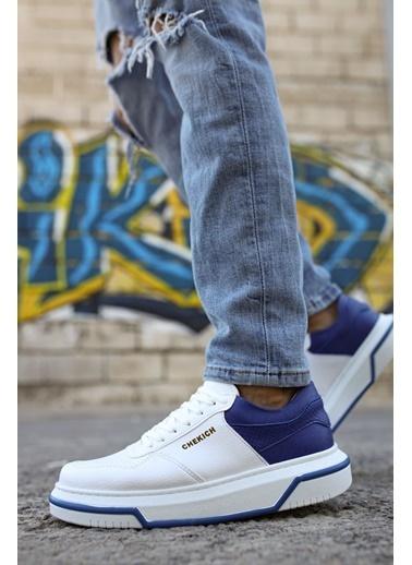 Chekich CH075 ıpekyol Beyaz Taban Erkek Ayakkabı BEYAZ / SAX MAVı Beyaz